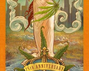 2016, 25th Anniversary Hemp Poster by Seattle HEMPFEST®