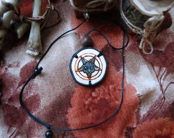 Baphomet/ Baphomet necklace/Рentagram /Satanism /the Baphomet /Satan /Black metal /Occultism /Terrible art/pentagram necklace