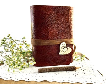 Handmade Leather Baby Book, Leather Baby Journal, Leather Baby Diary, Leather Baby Notebook, Blank Leather Baby Book, Blank Baby Journal