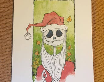 Jack Skellington Watercolor Print