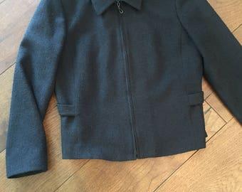 Pendleton Women's Zip Up Simple Sleek Cute Wool Jacket Size 8