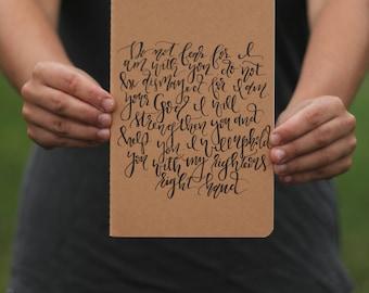 Kraft paper journal, thin journal, handwritten journal, bible verse notebook, Christian gift, inspirational journal, FREE SHIPPING