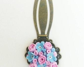 Colorful bookmark, custom bookmark, floral bookmark, metal bookmark, vintage bookmarks, colorful bookmarks, unique bookmark.