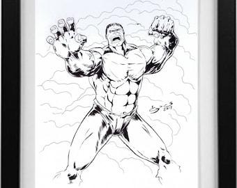 Hulk ink drawing by George Vega
