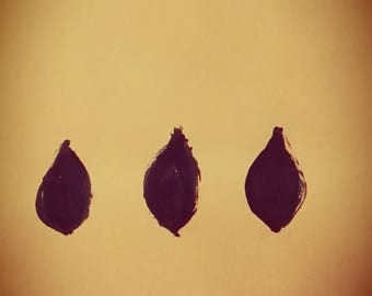 Three Drops in Blue - printable wall art, downloadable, modern art