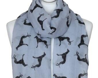 Greyhound Scarf, Greyhound, Dog Scarf, Lightweight, Greyhound Gifts, Italian Greyhound, Pet Scarf, Animal Scarf, Womens Scarf, Accessories