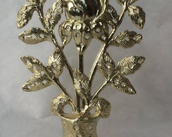 vintage faux gold rose knick knack