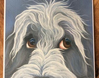 """bearded collie painting """"Abbie"""""""