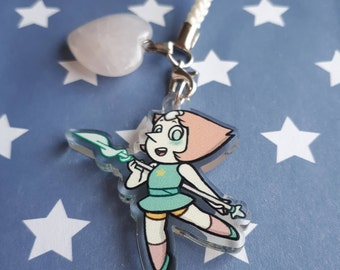 Steven Universe Pearl - double sided acrylic charm