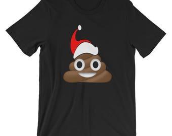 Funny Christmas Santa Poop Emoji Gift Short-Sleeve Unisex T-Shirt