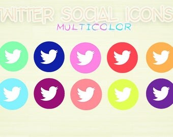 Twitter icons multicolor