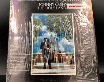 JOHNNY CASH VINYL Record - The Holy Land - Rare 3D Cover -- Limited Edition! - Great Gift!