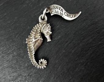 Sterling Silver Seahorse Charm | Vintage Bracelet Charm
