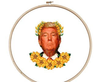 Donald Trump Cross Stitch Pattern - Instant Download
