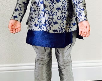 Kids Toddler Sherwani/ Toddler Boys Indian Wear/ Toddler boys kurta Salwar/Boys Sherwani / 2 in 1 Sherwani