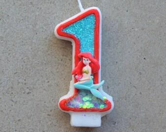 Mermaid birthday candle / Ariel birthday candle / Little mermaid birthday candle / Ariel birthday theme / Birthday candles / Ariel party