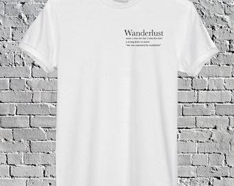 Wanderlust T-Shirt Tumblr Top New Wanderlust Pocket Tee Travel T-shirt Gift for Her Wanderlust Shirt Travel Gift Adventurer T-shirt