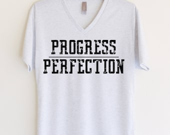 Progress Over Perfection V-Neck T-Shirt