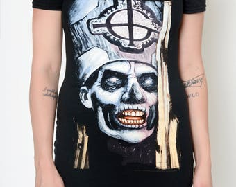 Ghost Papa Altered Tee Shoulder- Cut Dress