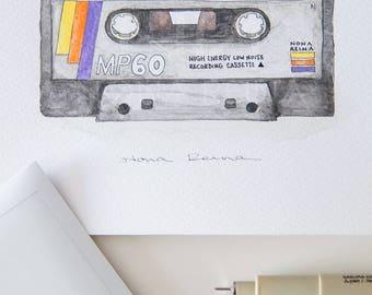 Illustration of my recorded cassette tape. Boyz II Men.