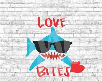 Love Bites, SVG, DXF, Png, Vinyl Design, Valentine Svg, Shark Svg, Love, Vday, Jpg, Vday Svg, Cricut, Cut File, Boys Valentine Svg, Love Svg