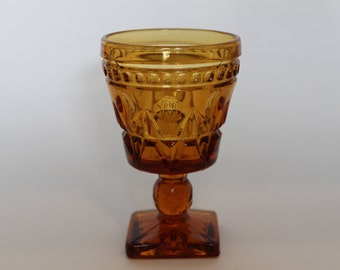 Indiana Glass Company Colony Park Lane Amber Glass Goblet