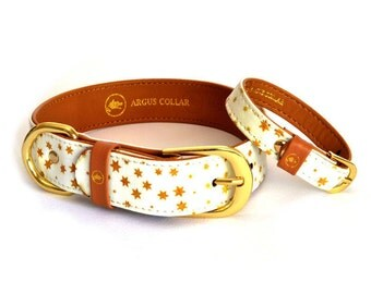 "Dog collar with a matching friendship bracelet for the owner / The ""Fairytale"" Collar"