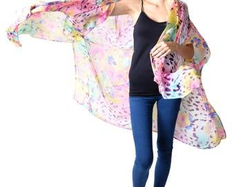 Harper 'Pink Animal' Kimono Cover-up
