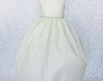 Ivory Vintage Chantelle Off White Dress Flower Girl Wedding Graduation Communion Ceremony Baptism Christening Confirmation 2 4 6 8 10 12 14