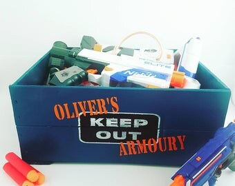 Nerf Gun Storage - Toy Box - Toy Crate - Nerf Darts Storage - Toy Storage