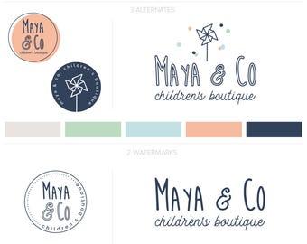 Logo Design, Blog Logo, Branding Kit, Whimsical Logo, Premade Logo, Kids Clothing Logo, Whimsical Branding,  Blog Design, Boutique Logo