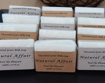Free Shipping!! Unscented Goats Milk Soap by Natural Affair
