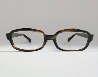 NOS, Vintage 1960s Smoke Amber Eyeglasses by Zyloware USA