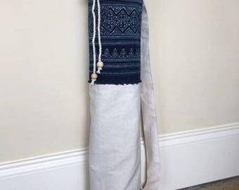 Yoga Mat Bag - Yoga Bag - Pilates Bag - Yoga Mat Carrier - Yoga Mat - Global Style - Tribal - Hmong - Bohemian Yoga Mat Bag