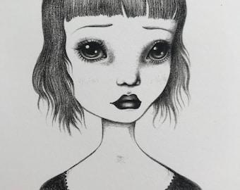 Sad Eyed Bug Eyes ~ 5x7 Art Print