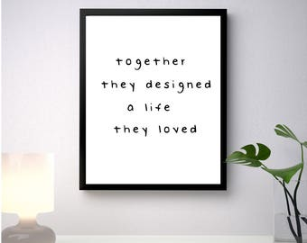 Together // Digitally Made Wall Art