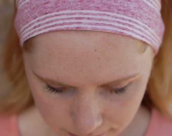 Pink Striped Headband