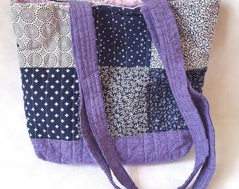 Quilted Handbag - Lilac Garden