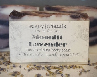 Moonlit Lavender- Handmade Soap with Shea Butter, Oatmeal & Essential Oil