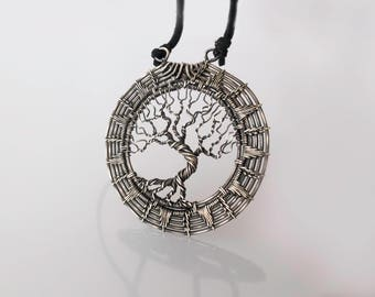 Tree-of-life necklace Tree-of-life pendant Silver-pendant Wire wrapped jewelry Mother day gift-for-men gift-for-dad gift-for-husband gift