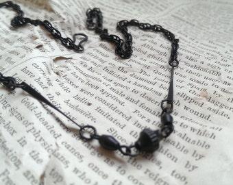 BLACK ART DECO necklace