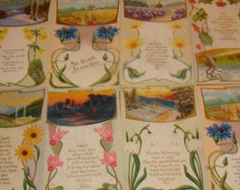 Great Lot of 11 Vintage Floral/Sceanic Postcards