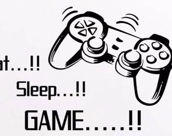 Eat, sleep, game vinyl
