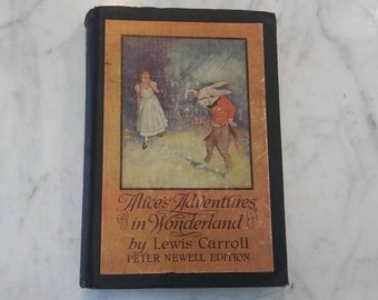 1901 Alice & Wonderland Book By Lewis Carroll Rare Find