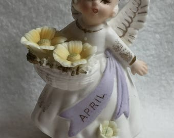 April Angel with Flowers (#021)