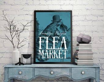 Vintage Flea Market Poster. A3. Ready-to-print PDF