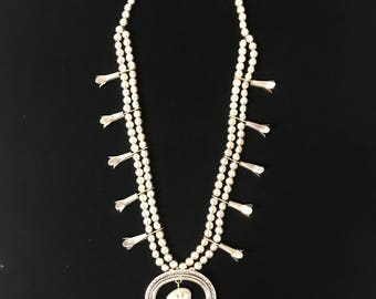 Sterling Silver Squash Blossom Necklace