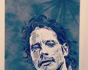 Chris Cornell Spray Paint on Canvas
