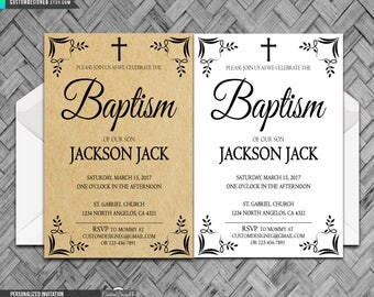 Printable Baptism Invitation, Baptism Invites, Baptism Invite, Boy Baptism, Girl Baptism, Invitation Template, Christening