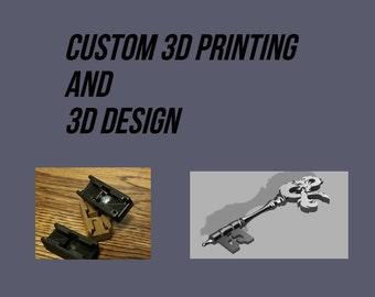Custom 3D Printing Service and 3D Design